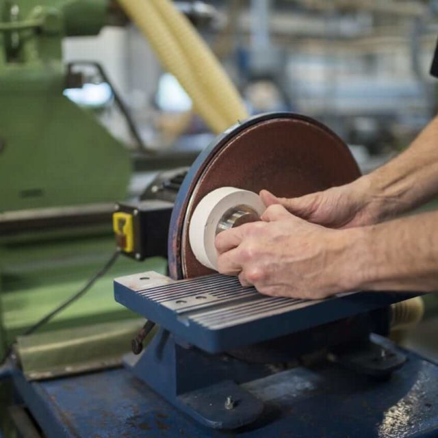 Production of rubber wheels